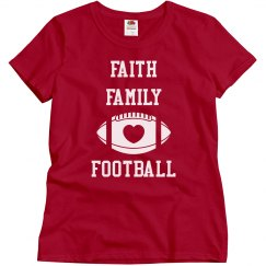 Faith family tee purple