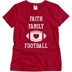 Faith family tee purple