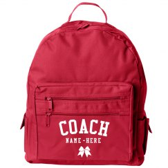 Personalized Cheer Coach Backpack