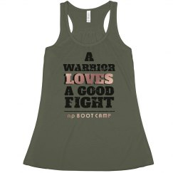 A WARRIOR LOVES A GOOD FIGHT distressed