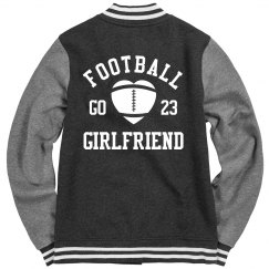 Cute Football Girlfriend Varsity Jacket With Custom No.