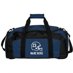 Football Team Duffel Bags With Custom Name Number