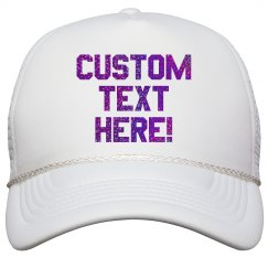 Custom Glitter Trucker Hats