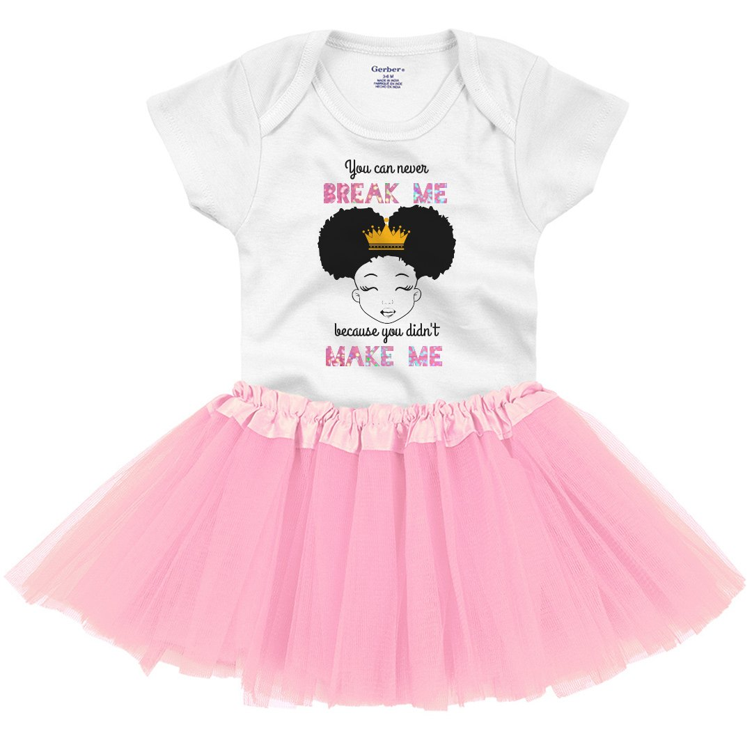 BLACK PRINCESS Infant Onesie with Tutu