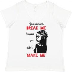 NEVER BREAK ME DIDN'T MAKE ME BLACK WOMAN HEADWRAP