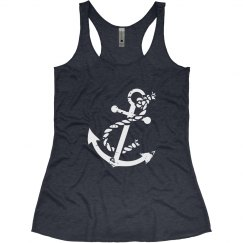 Navy Anchor Tank Top