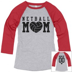 Netball Mom Shirts With Custom Name Number