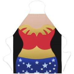 Vintage Wonder Woman Parody Apron