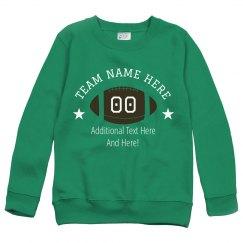 Custom Text Football Crewneck Sweater