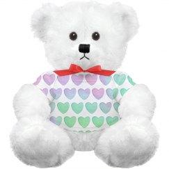 Custom Pastel Hearts Plush