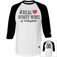 The Real Rowdy Volleyball Moms Shirt With Custom Back