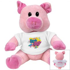 80's Retro Pink Pig