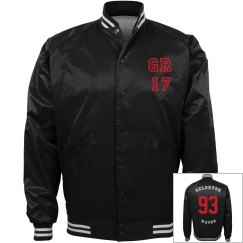 GR17 baseball jacket Red face