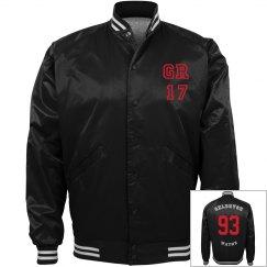 GR17 baseball jacket Red face