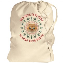 Customizable Pet Photo Santa Bags