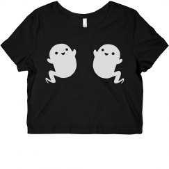 Boo! Scary Ghost Crop Top Costume