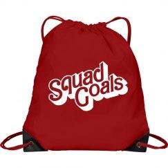 Hot Pink Squad Goals Cinch Bag