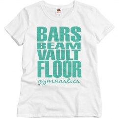 Bars, beam, vault, floor tshirt