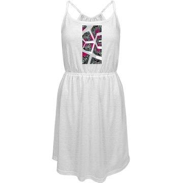 Abrica Zebra Maze Custom Junior Fit Strappy Dress