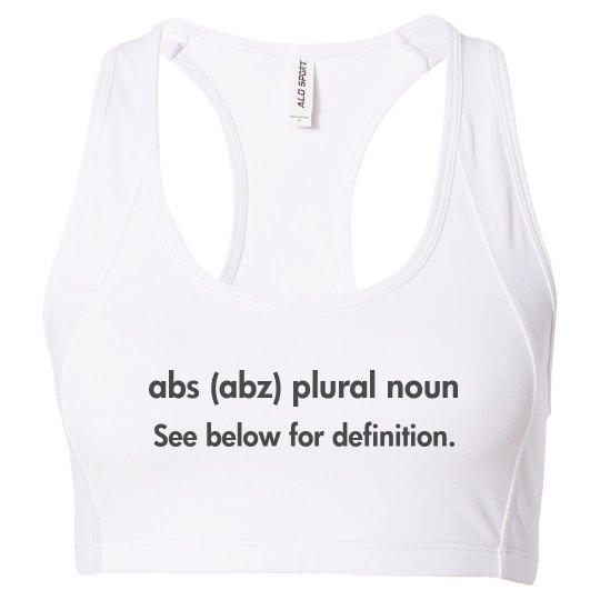 Abs Definition Sports Bra