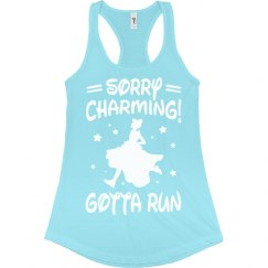 Sorry Charming Princess Run Tank
