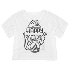 Happy Camper Hand Drawn Crop