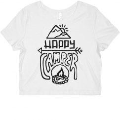 Happy Camper Hand Drawn Crop