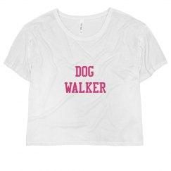 DOG WALKER AF Flowy Crop