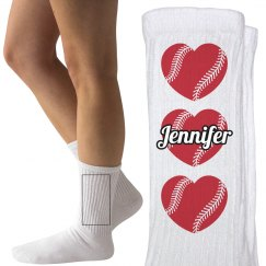 Custom Softball or Baseball Socks with Name