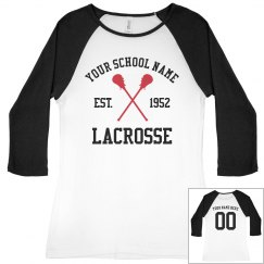 Lacrosse Mom Biggest Fan Custom Name Number