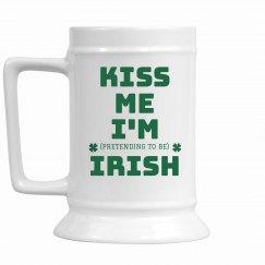 Kiss Me I'm Irish Stein