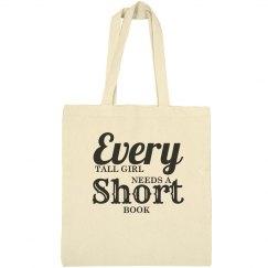 Tall girl short book bag