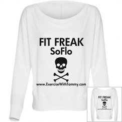 Fit Freak SoFlo off the shoulder tee