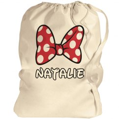 Big Cheer Bow Cheer Laundry Bag With Custom Name