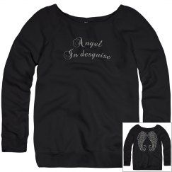 Angel Wings Ladies Sweatshirt