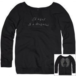 Angel in desguise Wings Ladies Sweatshirt