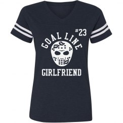 Goaline Hockey Girlfriend Jersey With Custom Number