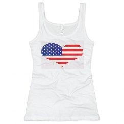 US Flag Heart