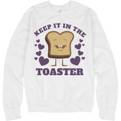 Color Guard Keep It In The Toaster Funny Sweater