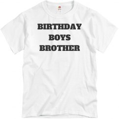 Birthday boys brother