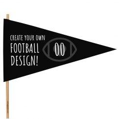 Custom Football Number Spirit Flag