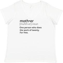 Custom Momma Bear Mother's Tee Promo Ladies Curvy Plus Size