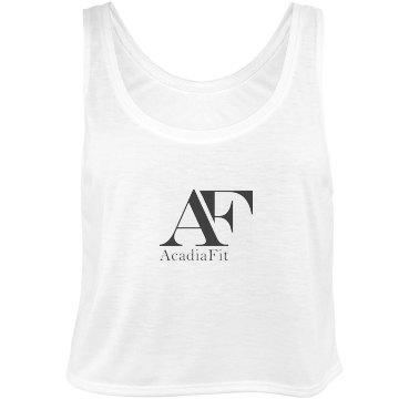 AcadiaFit Black Logo