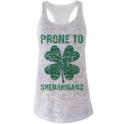 Prone To Shenanigans Shamrock