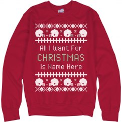 Custom Football Ugly Sweater