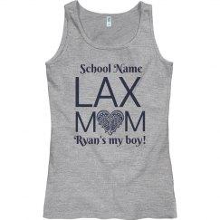 Custom High School Lacrosse Mom Tank