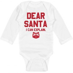 Dear Santa, I Can Explain Onesie