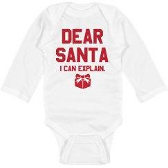 Dear Santa, I Can Explain Bodysuit