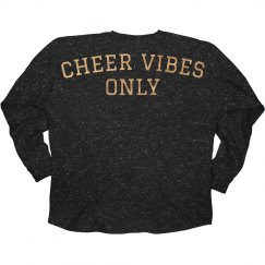 Rose Gold Cheer Vibes Only Glitter Slub
