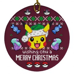 Pocket Monster Xmas Ornament